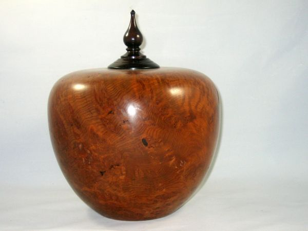 California redwood burl urn by Don Maloney (click to enlarge)