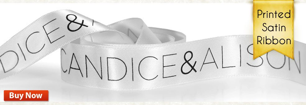 Personalized Satin Ribbon By FinerRibbon