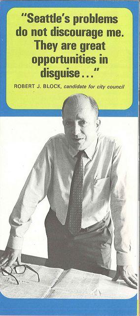 Robert Block campaign brochure, 1960s Brochures and Political campaign - political brochure