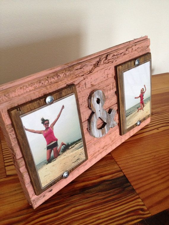 3x4 Me & You Picture Frame Coral Blush by shoponelove on