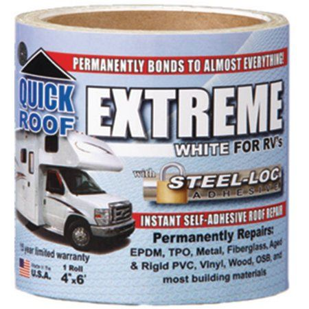 Quick Roof Extreme White For Rv S Size 4 Inch X 6 Elastomeric Roof Coating Roof Coating Rv Roof Repair