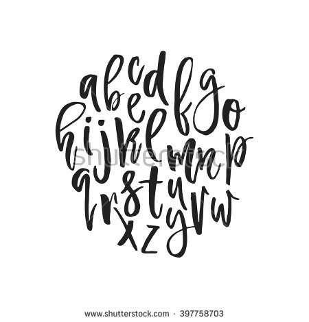 unique vector alphabet modern calligraphy font vector letters