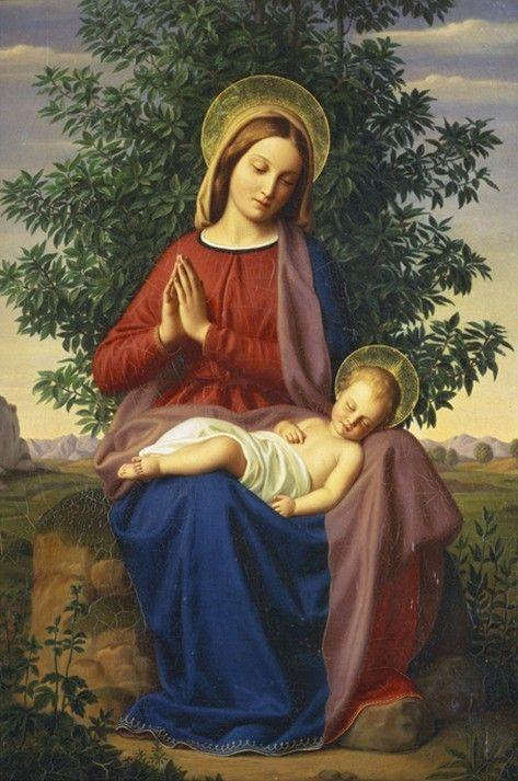 """by-grace-of-god: """" Madonna and Child by Julius Schnorr von Carolsfeld """""""