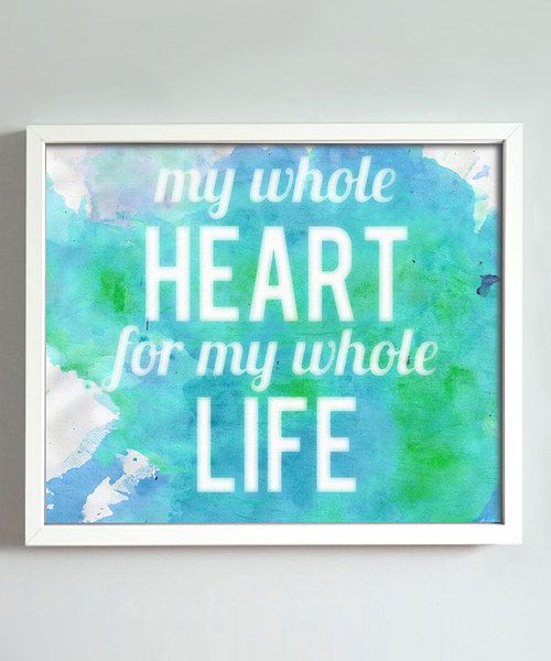 Gorgeous in a bedroom or a hallway, this sweet print speaks to the transformative nature of love. Beautiful bold colors and a watercolor-like finish only add to its unique look.Frame not includedAvailable in two sizesHeavyweight matte art paperMade in the USA
