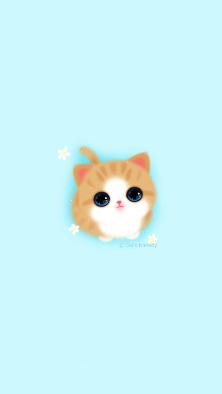 Cute Girly Iphone Wallpaper Melody Cat Baby Blue Best Wallpaper Hd Iphone Wallpaper Cat Cute Wallpapers Wallpaper