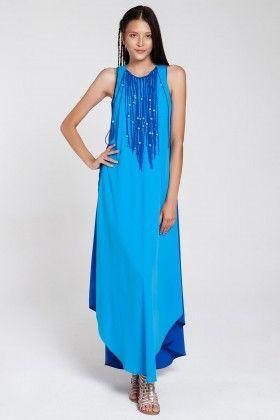 add7e8be715aa Nazlı Ceylan Püsküllü Elbise | maxi elbise modelleri | Elbise ...