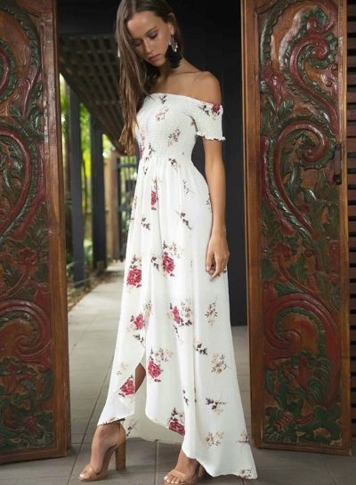 6269a45fd8a off Shoulder Floral Printed High Split Maxi Dress OASAP.com