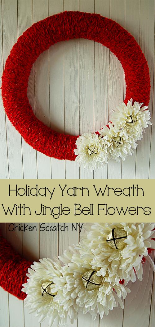 Handmade DIY Christmas Wreath Ideas Christmas yarn