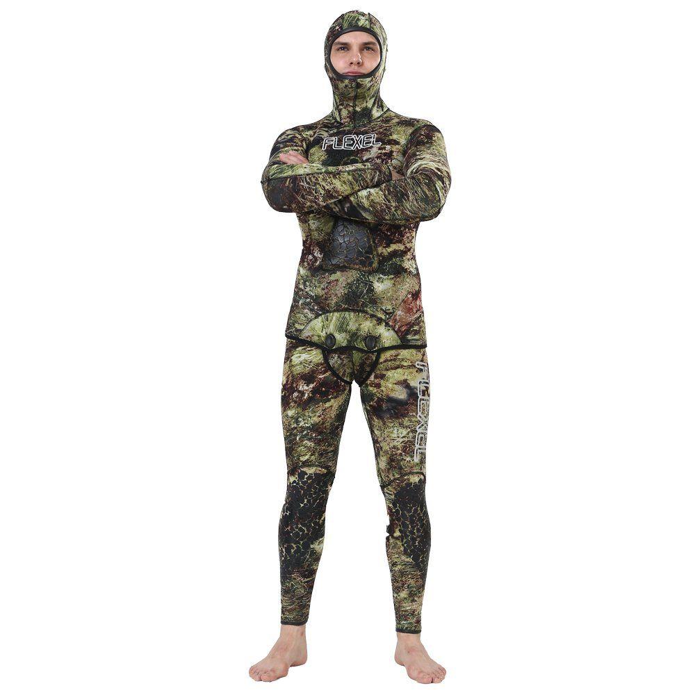 3c4f92a84a Realon Wetsuit 5mm Full Spearfishing Suit Camo Scuba Diving Suit ...