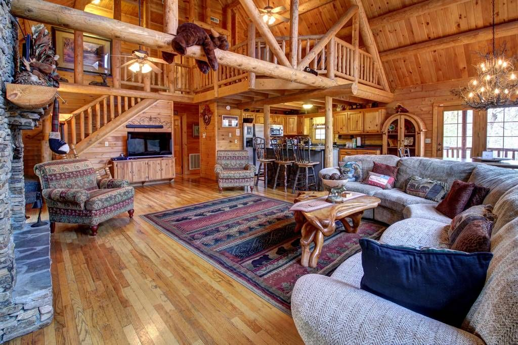 Upscale cabin w private hot tub game room shared