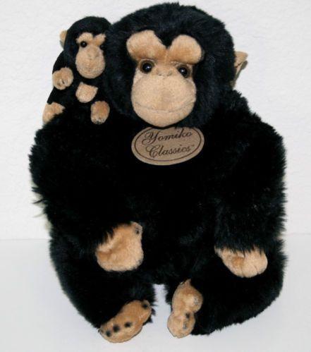 Russ Yomiko Classics Stuffed Plush Monkey Chimp Mama Baby Gorilla