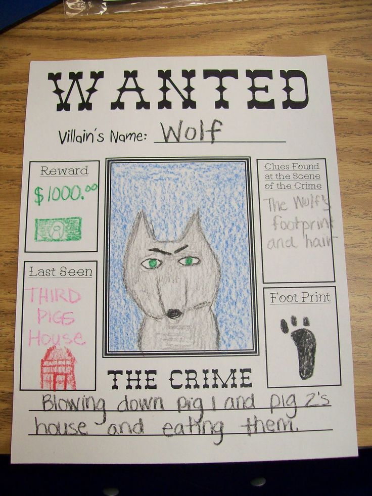 Mrs Terhuneu0027s First Grade Site! Fairy Tale\/Storybook Characters - free printable wanted poster
