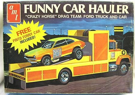This Truck Model Kit Of A Ford Ln 8000 Race Car Hauler Is Made By