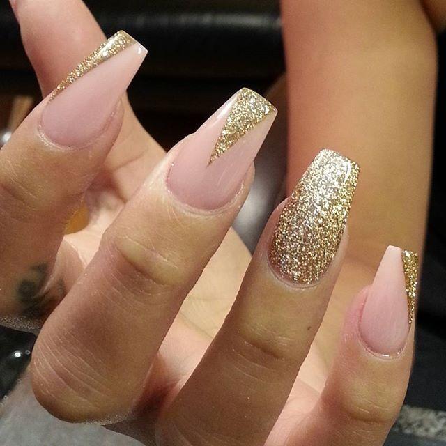 Instagram photo by thenailboss #nail #nails #nailart / nude and gold ...