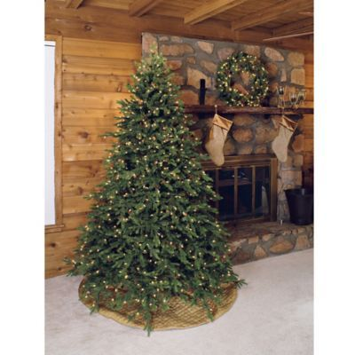 Bethlehem Lights 7 5 Foot Full Profile Hunter Christmas Tree With Pinecones Bedbathandbeyond