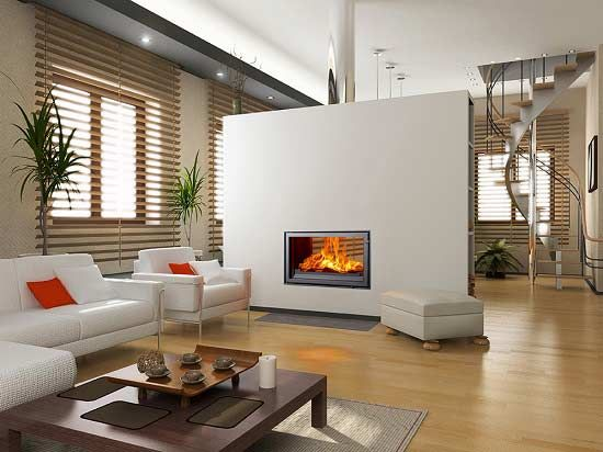 Woodfire Rx Double Sided Insert Boiler Stoves Uk Modern Kitchen Living Room Home Decor Apartment Living Room