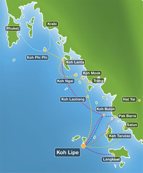 Best Hotel Deals In Thailand Thailand Map Koh Lipe