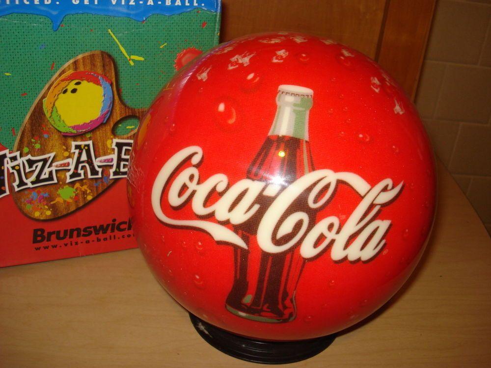 Brunswick vizaball coke logo bowling ball 10 lbs rare