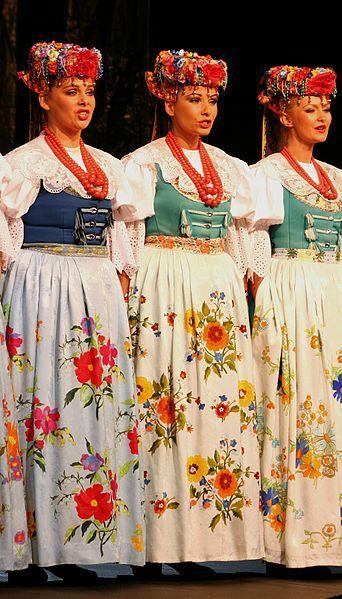 Polish - Silesian Folk costumes.