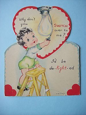 """Vintage Valentine Card-""""Switch"""" Over to Me"""