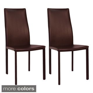 Baxton Studio Amsterdam Brown Leather Dining Chairs Set Of 2 Best Leather Dining Room Chairs With Arms Inspiration Design