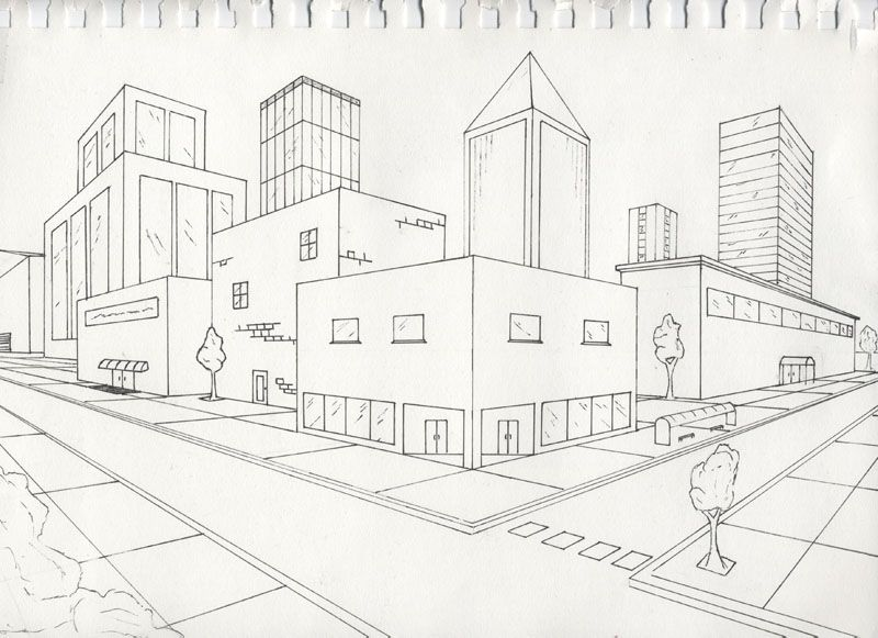 two point perspective resource post learn to draw point