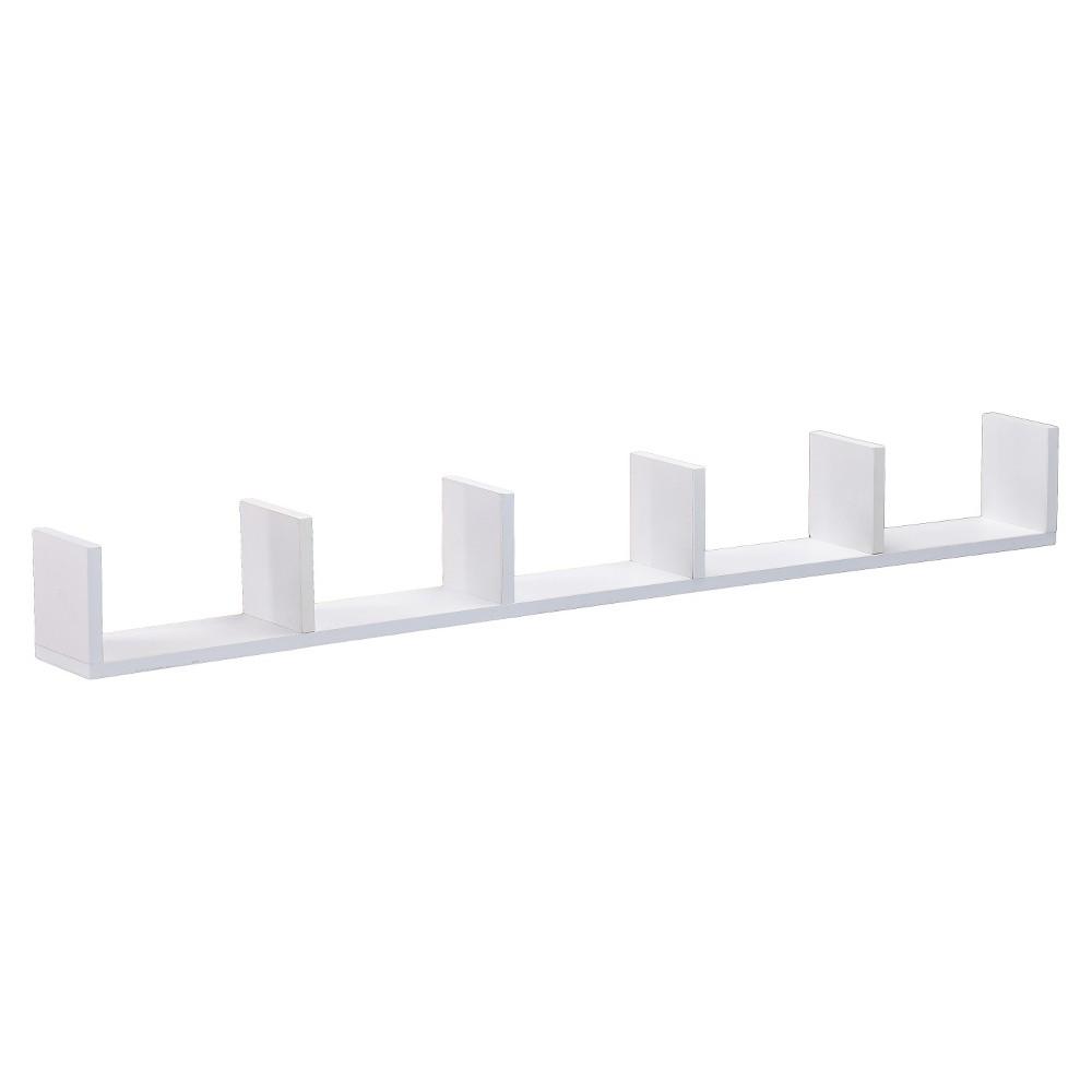 Coastal 6 ledge wall shelf white shelves walls and products coastal 6 ledge wall shelf white amipublicfo Images