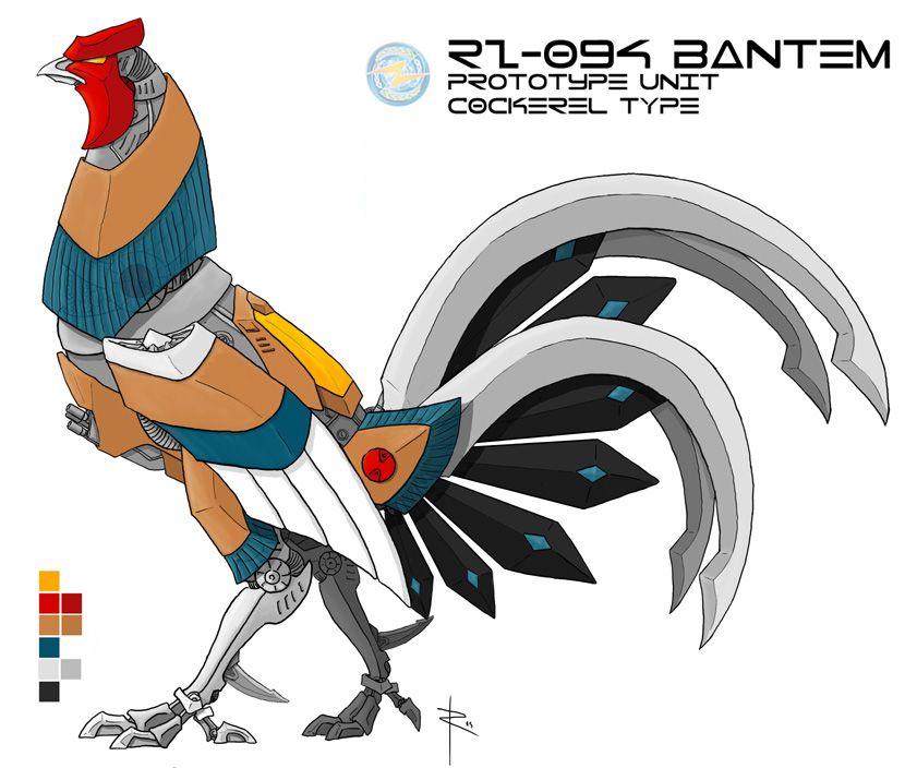 Bantem, fighting cock zoid by Menitti on deviantART   Pico de ...