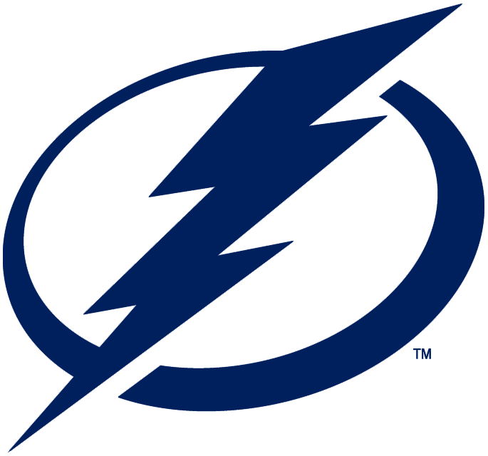 Tampa Bay Lightning Primary Logo 2011 12 Pres A Blue Lightning Bolt On A Blue And White Circle Tampa Bay Lightning Logo Lightning Logo Tampa Bay Lightning