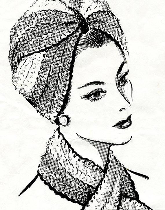 Crochet Turban Hat Pattern, Easy Crochet Pdf Pattern
