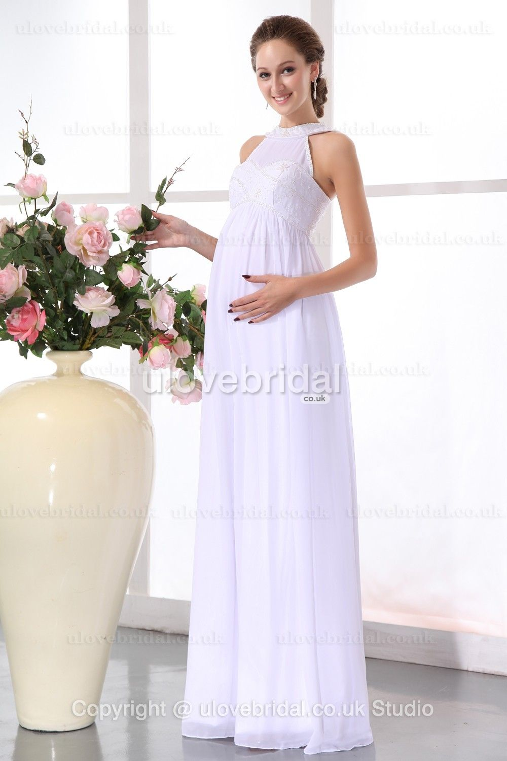 White maternity wedding dress  Cheap Simple New For Maternity Chiffon White Wedding Gown  wedding