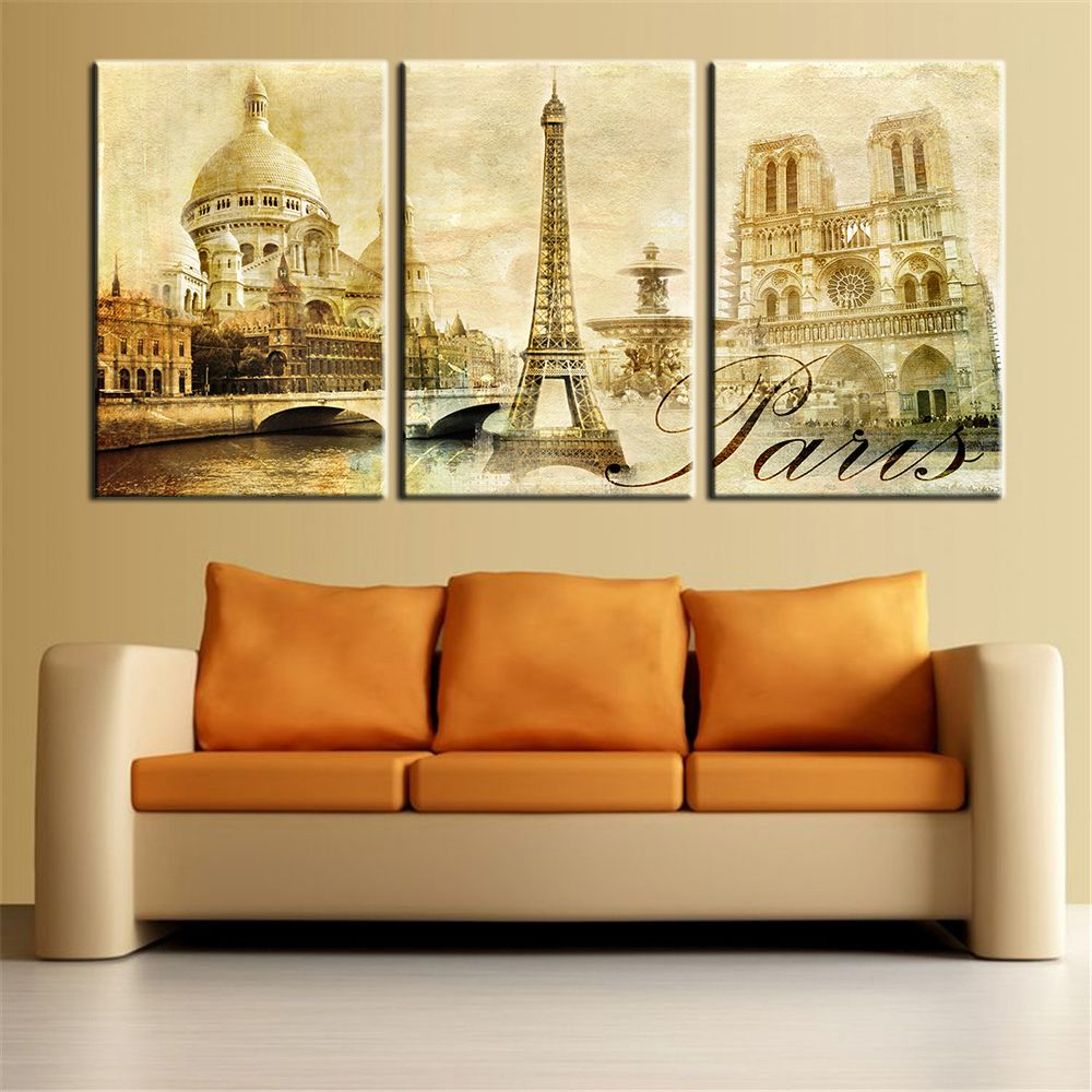 How to Sale Price US $6.47 Discount 49% Wall Art Pictures Paris ...
