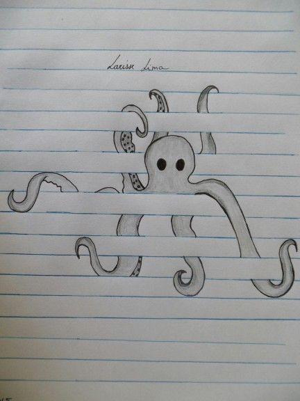 Leuke Octopus In De Lijntjes Tekeningen Pinterest