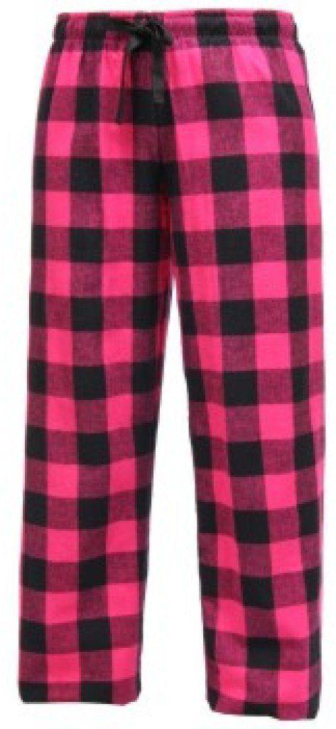 6c7f30bfe5 Boxercraft Girls Flannel Buffalo Fuschia Pajama Pants