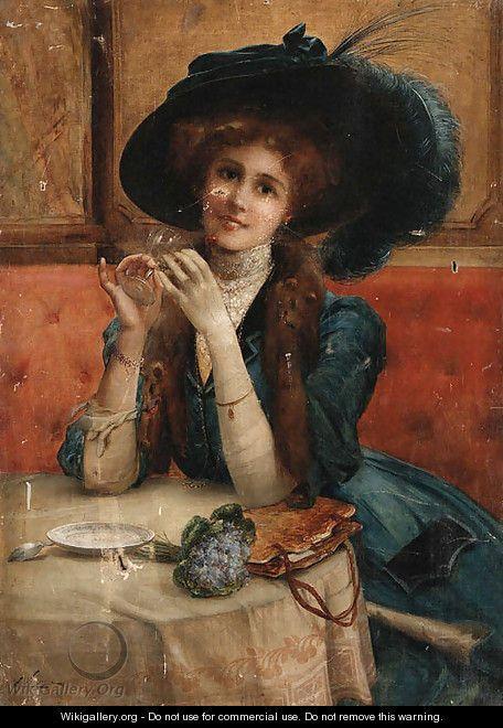 Portrait of a woman - Emile Vernon