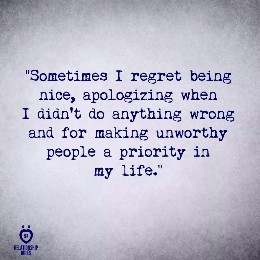 Regret...