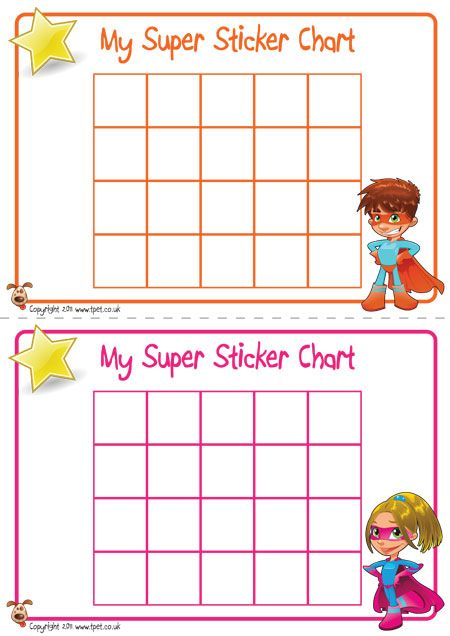 Teacher\u0027s Pet Displays » Superhero Sticker Charts » FREE
