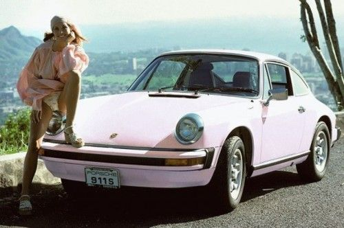 pink porshe...AHEM! I would like to make an announcement...this right here...is my dream car.