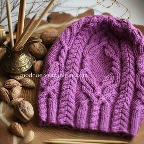 Описание и схемы для вязания модных шапок спицами - Modnoe ...