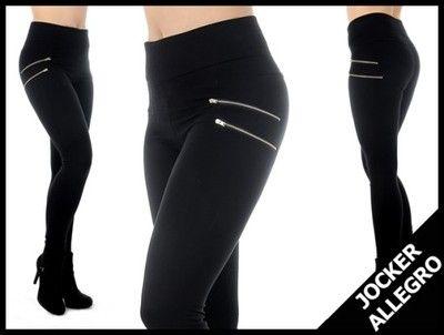 Legginsy Wyszczuplajace Spodnie Zamki Leginsy L Xl 5837904150 Oficjalne Archiwum Allegro Fashion Legging Pants