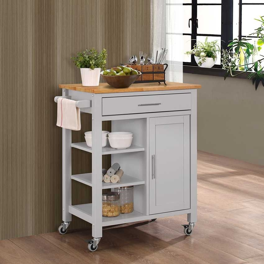Discount Pricing on this Edmonton Kitchen Cart with Wood ...