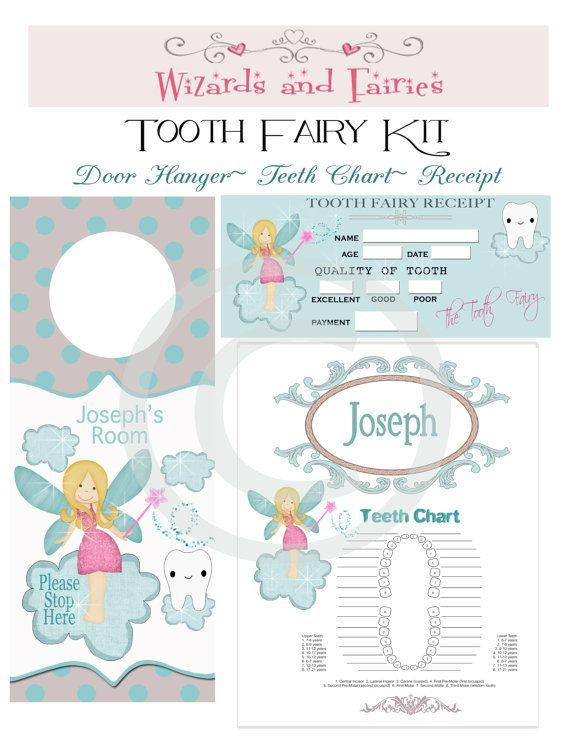 tooth fairy receipt free printable - Google Search BABY GIRL - printable receipt free