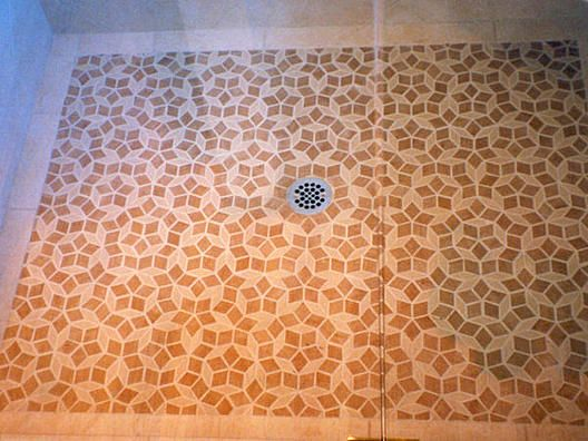 Penrose Tile Shower Floor | Mathematical Things | Penrose