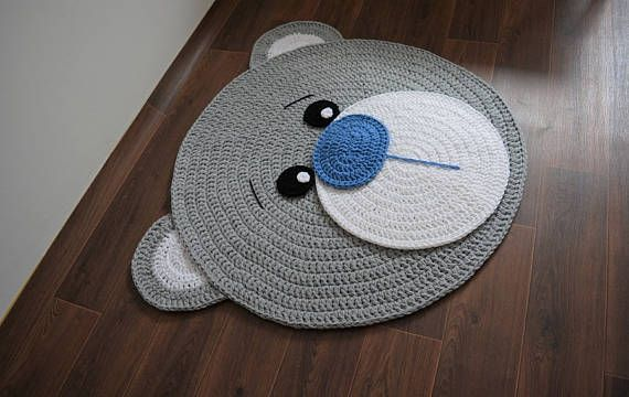 promotion many colors soft bear rug tapis enfant teppich rund light grey nursery floor home