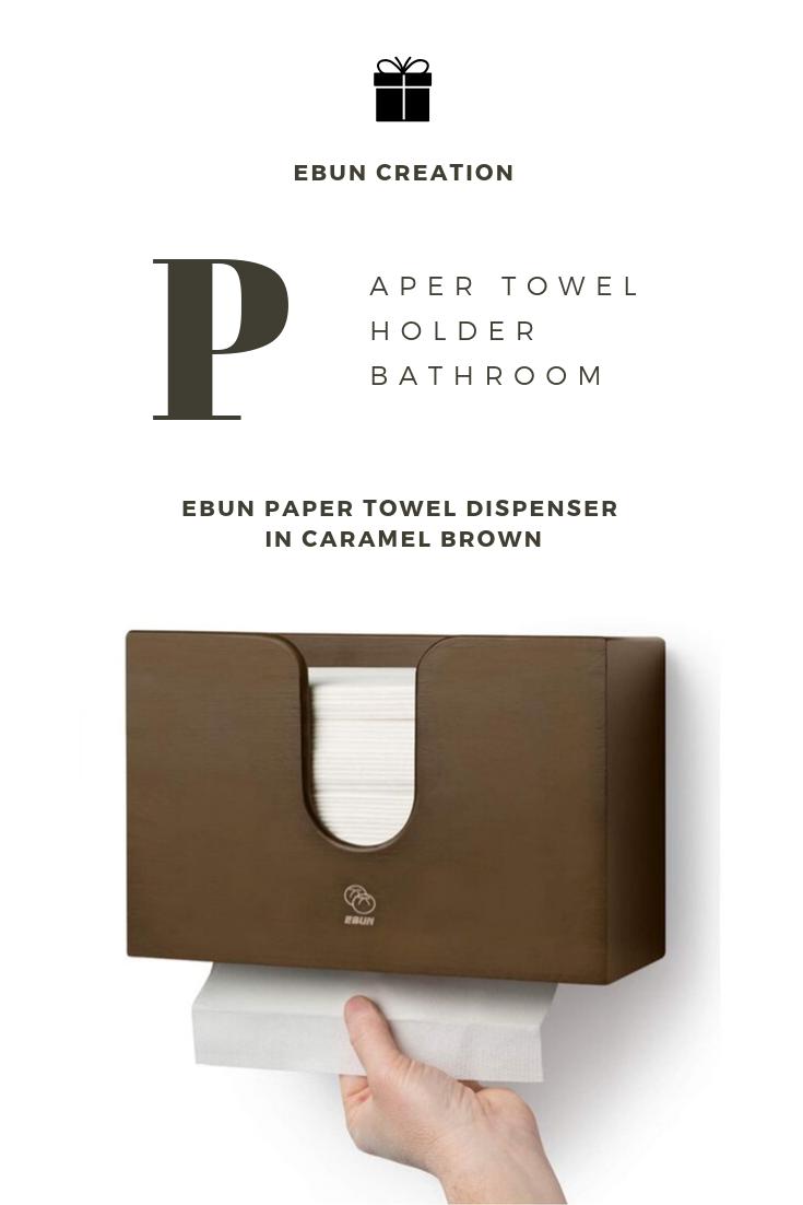 Paper Towel Holder Bathroom Ebun Dispenser In Caramel Brown