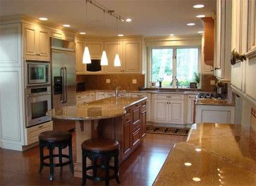 Kitchen Islands With Seating Island With Round Seating Area Design Ideas Pictures Remodel Round Kitchen Island Kitchen Island With Seating Kitchen Design