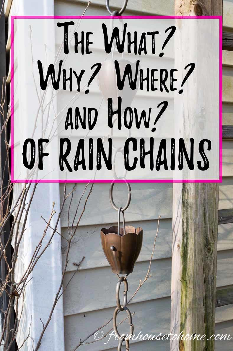 The What Why Where And How Of Rain Chains The