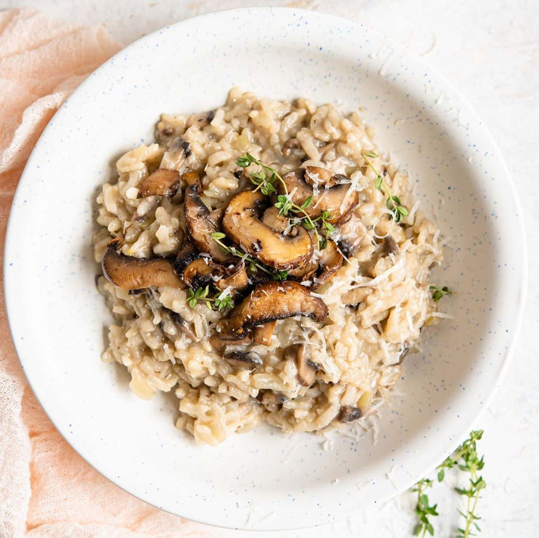 John Kanell On Instagram Creamy And Delicious Mushroom Risotto Recipe Made With White Wine Garlic And Buttery Mushrooms This Recipe Is Super Comforting S