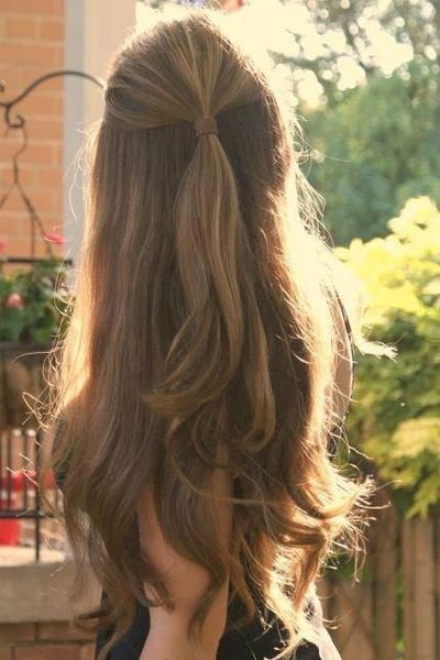 Stunning Holiday Hairstyles Straight From Pinterest Hairstyle Thick Hair Styles Hair Styles