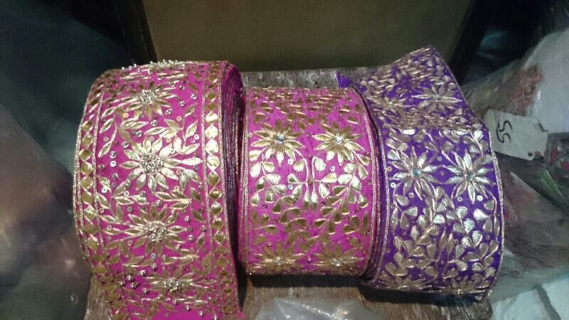Beautiful gota patti lace.. | laces | Saree blouse designs ...